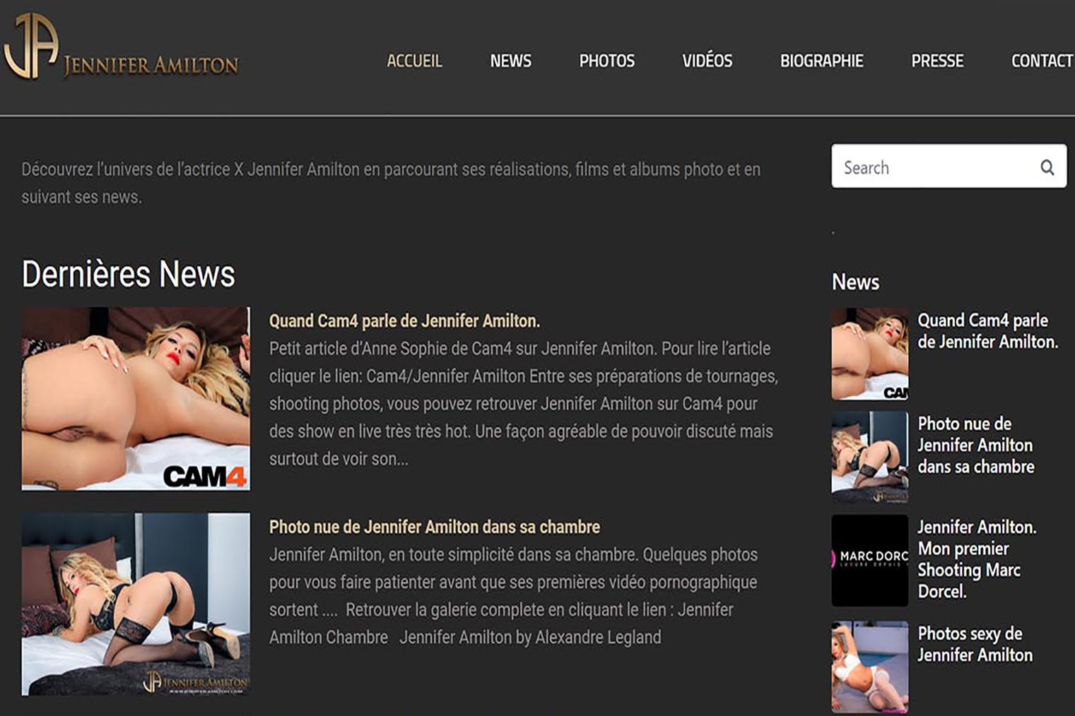 site officiel Jennifer Amilton